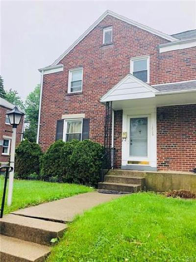 Allentown City Single Family Home Available: 1526 South Lehigh Parkway