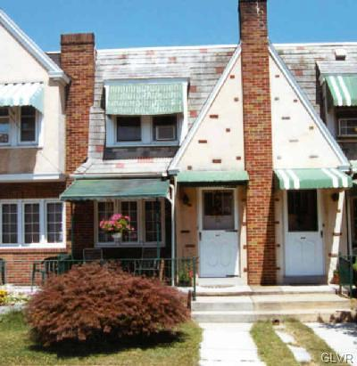 Allentown City Single Family Home Available: 527 North Lafayette Street