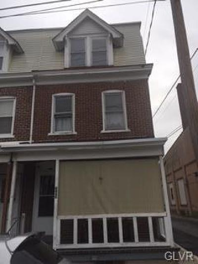 Allentown City Single Family Home Available: 333 North Madison Street