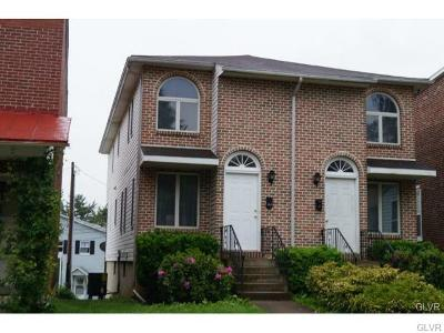 Allentown City Single Family Home Available: 1516 West Tremont Street