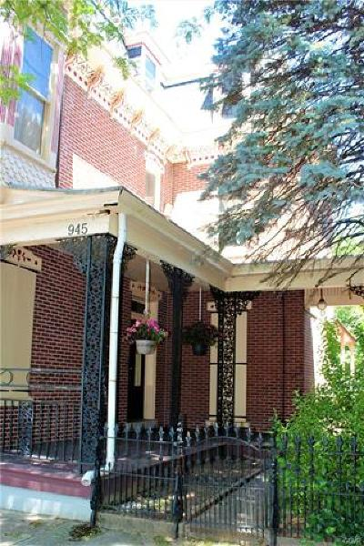 Allentown City Single Family Home Available: 945 West Walnut Street