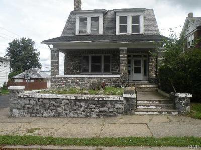 Easton PA Single Family Home Available: $115,000