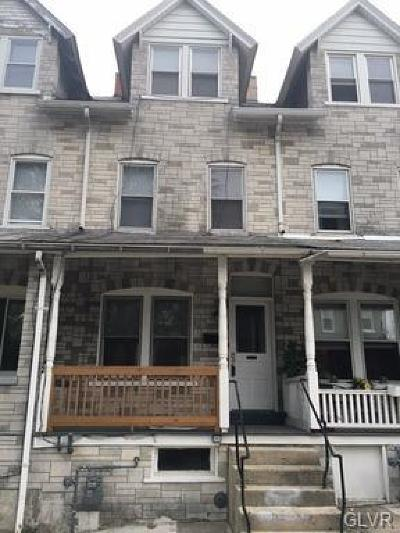 Allentown City Single Family Home Available: 1106 South 7th Street