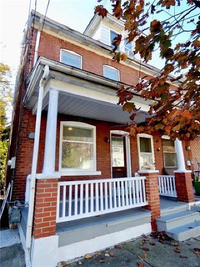 Bethlehem City Single Family Home Available: 37 West Goepp Street