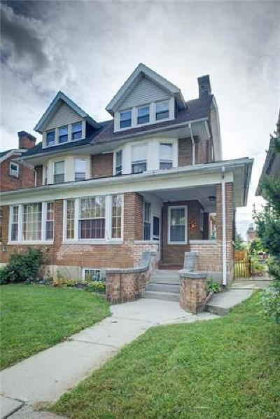 Allentown City Single Family Home Available: 214 South 16th Street #1