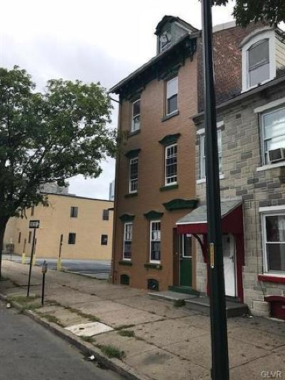 Allentown City Single Family Home Available: 119 South 7th Street #4
