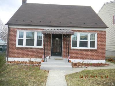 Allentown City Single Family Home Available: 878 Jasper Street