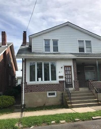 Allentown City Single Family Home Available: 841 South 10th Street