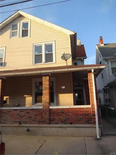 Allentown City Single Family Home Available: 523 Harrison Street
