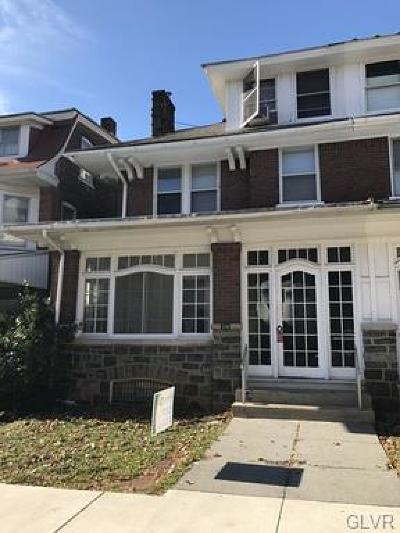 Allentown City Single Family Home Available: 34 South 18th Street #1st floo