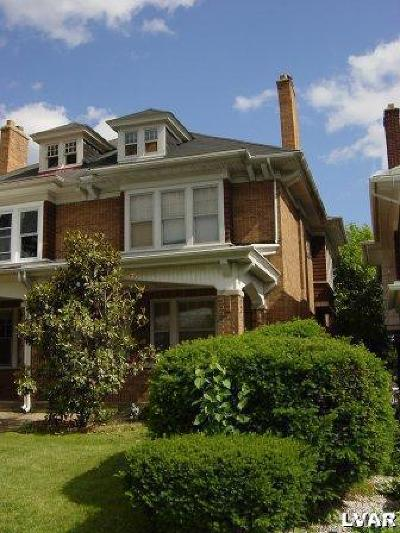 Allentown City Single Family Home Available: 1912 West Hamilton Street