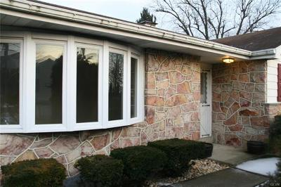Allentown City Single Family Home Available: 1638 West Greenleaf Street