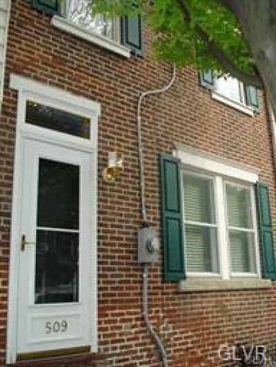 Bethlehem City Single Family Home Available: 509 Cherokee Street