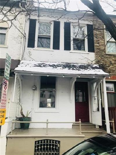 Allentown City Single Family Home Available: 842 West Walnut Street