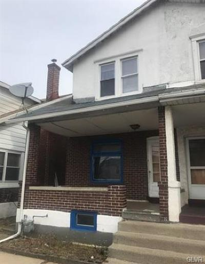 Allentown City Single Family Home Available: 833 South 10th Street