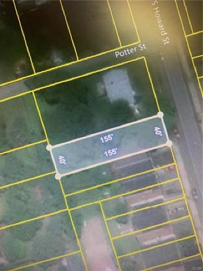 Residential Lots & Land Available: 1324 South Howard Street