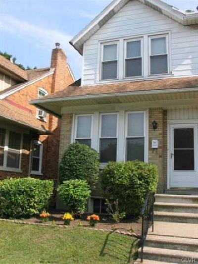 Allentown City Single Family Home Available: 2128 West Liberty Street