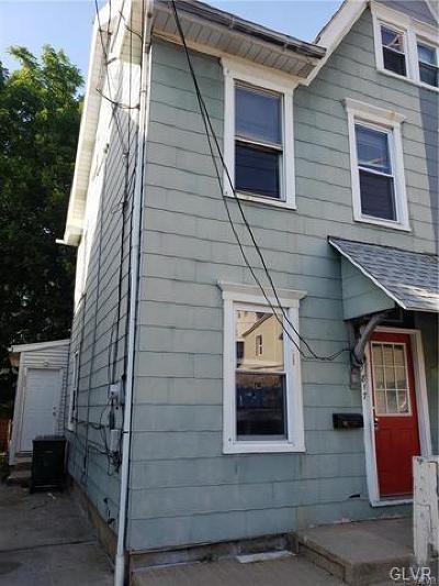 Bethlehem City Single Family Home Available: 817 Evans Street