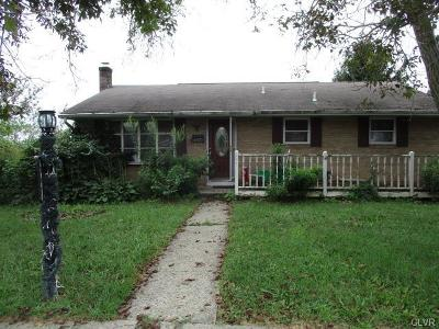 Allentown City Single Family Home Available: 347 West Lynnwood Street