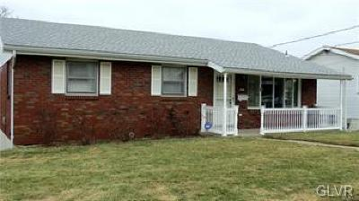 Allentown City Single Family Home Available: 1027 Chew Street