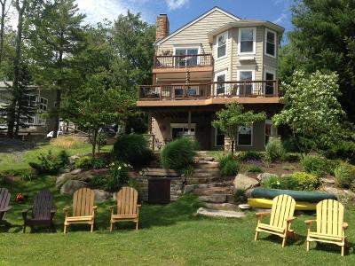 Lake Harmony Single Family Home For Sale: 395 North Lake (Lake Front) Drive