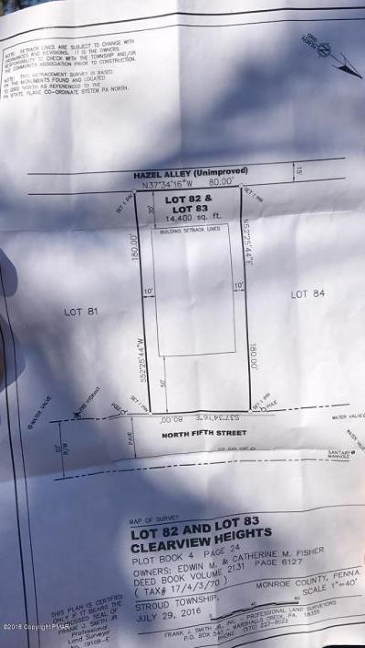 Stroudsburg Residential Lots & Land For Sale: 2173 N Fifth St