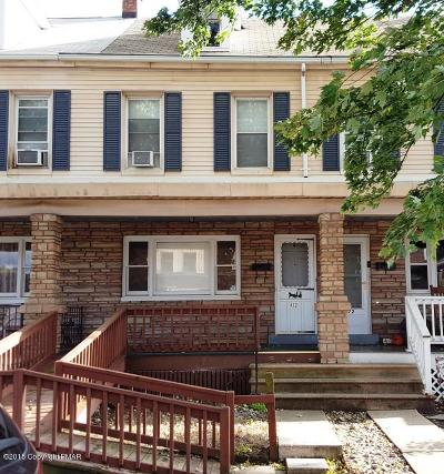 Palmerton Single Family Home For Sale: 472 1/2 Lehigh Ave