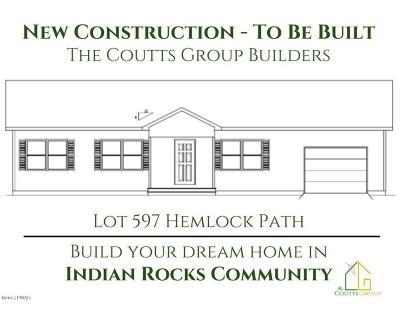 Indian Rocks Single Family Home For Sale: Lot 597 Hemlock Path
