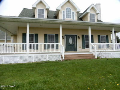 Lake Ariel Single Family Home For Sale: 538 Bidwell Hill Rd