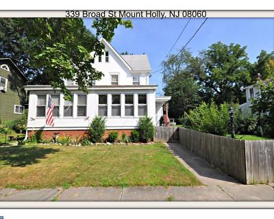 Mount Holly Single Family Home ACTIVE: 339 Broad Street