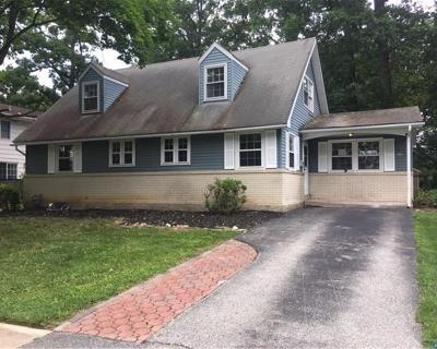 DE-New Castle County Single Family Home ACTIVE: 602 Webb Road
