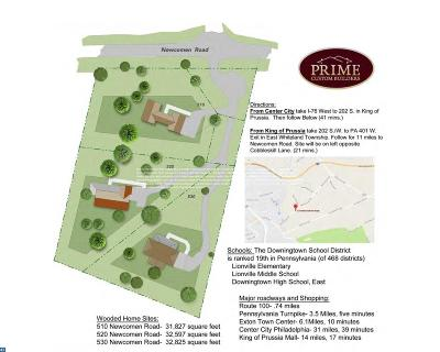 Exton Residential Lots & Land ACTIVE: 510 Newcomen Road