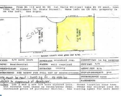 Millsboro Residential Lots & Land ACTIVE: 28164 Fox Run #LOT C