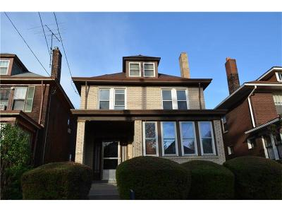 Regent Square Single Family Home For Sale: 925 S Braddock Ave