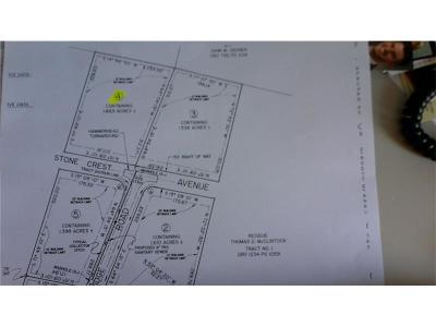 Somerset/Cambria County Residential Lots & Land For Sale: Lot #4 Stone Crest Dr.