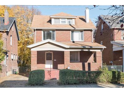 Regent Square Single Family Home For Sale: 603 Whitney Ave