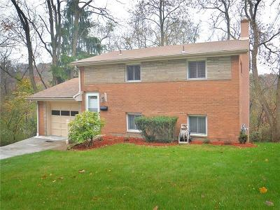Wilkins Twp Single Family Home For Sale: 508 Lucia Rd
