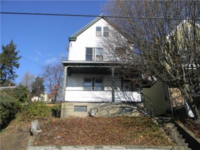 Swissvale Single Family Home For Sale: 2247 Milligan Avenue