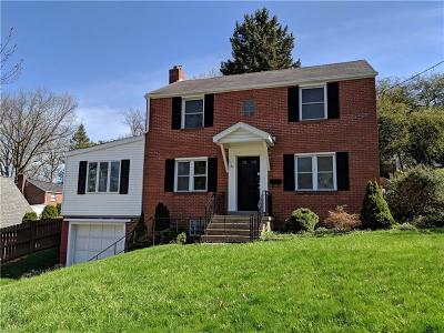 City Of Greensburg PA Single Family Home For Sale: $107,000