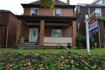 Regent Square Single Family Home For Sale: 7456 Schoyer