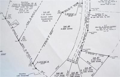 Somerset/Cambria County Residential Lots & Land Contingent: Lot 3 Sunset Road