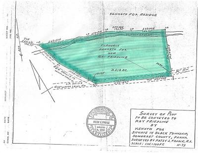 Somerset/Cambria County Residential Lots & Land For Sale: Garrett Road