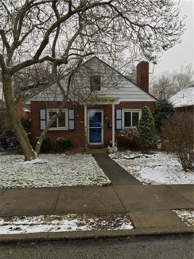 Regent Square Single Family Home For Sale: 549 Allenby Ave