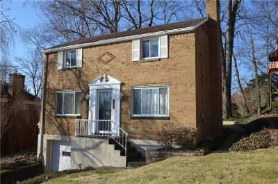 Mt. Lebanon Single Family Home For Sale: 474 Duquesne Dr