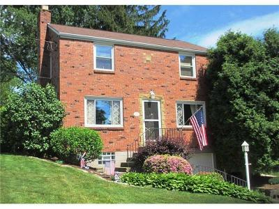 Upper St. Clair Single Family Home Active Under Contract: 101 Thames