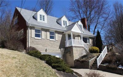 Mt. Lebanon Single Family Home Active Under Contract: 1500 Mohican Drive