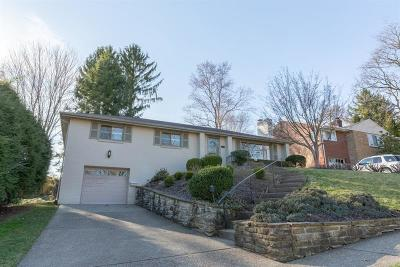 Mt. Lebanon Single Family Home Active Under Contract: 1304 Folkstone Dr