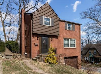Mt. Lebanon Single Family Home Active Under Contract: 41 Rosemont Ave