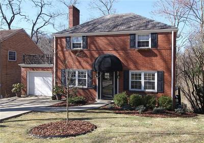 Mt. Lebanon Single Family Home Active Under Contract: 29 Allendale Place