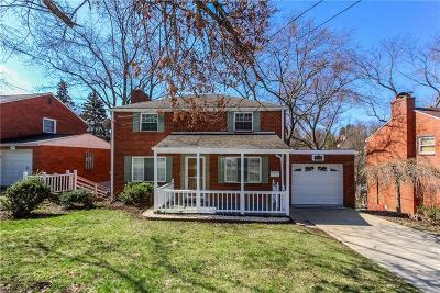 Mt. Lebanon Single Family Home Active Under Contract: 492 Haverhill Rd